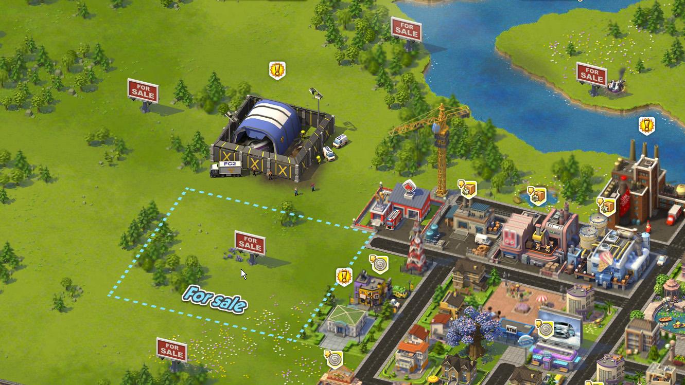 「SimCity Social」も同じようなシステム。おそらくだんだん大変になるのだろう