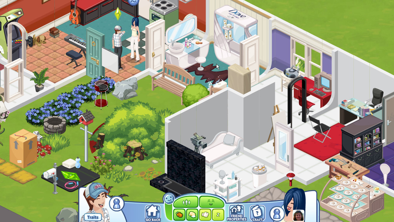 「The Sims Social」は初代「The Sims」を思い出すシミュレーション寄りのゲーム性