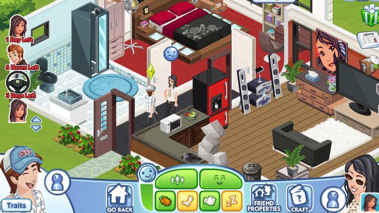 「The Sims Social」は相手の家を訪ねることはできるが、呼ぶことはできない