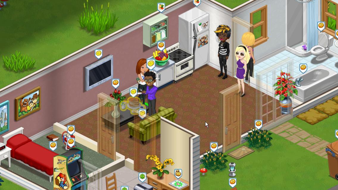「The Ville」は友達を家に呼ぶことができる。チャット機能もあり
