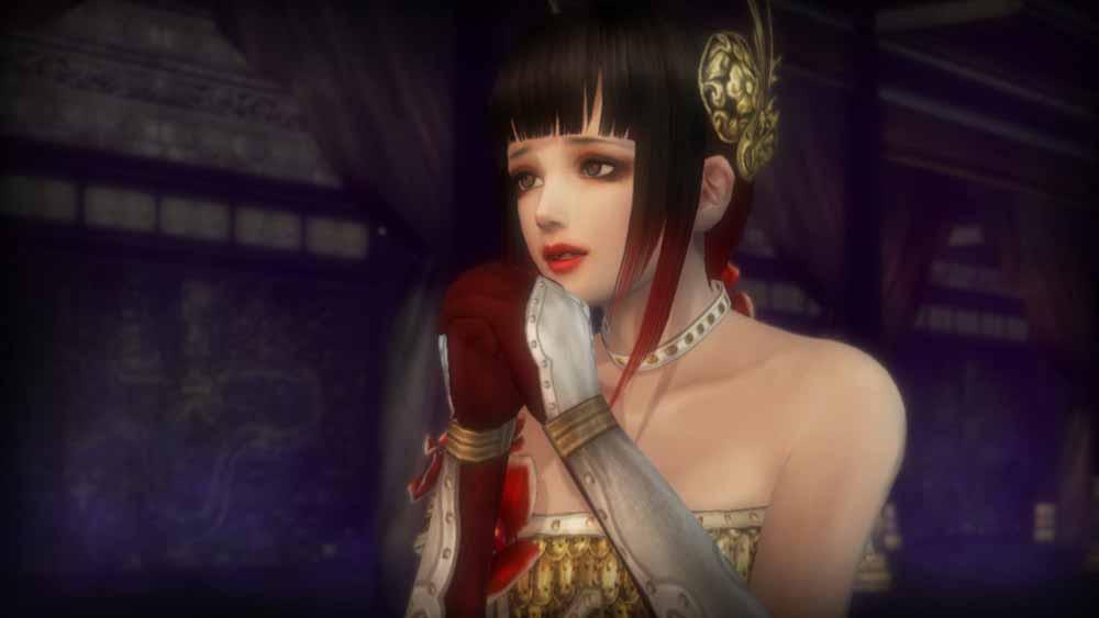虞美人が項羽の役に立ちたい一心で、単身、始皇帝の居城に向かい、力を欲したいと懇願する