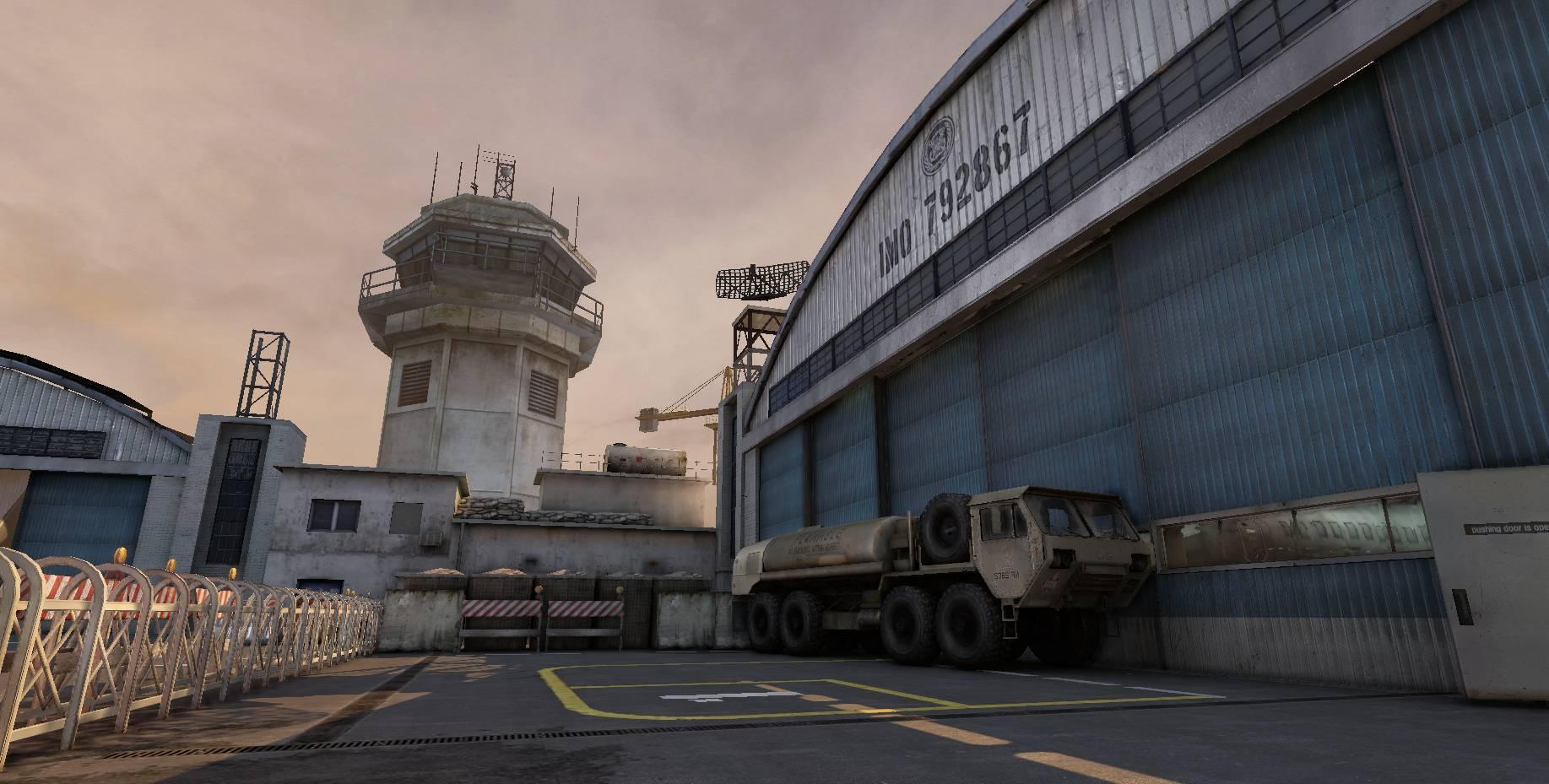 新型早期警戒機「ピースホーク」、もしくは「全方位レーダー」の爆破がミッションとなった爆破モードのマップ。変化する地形にも特徴あり
