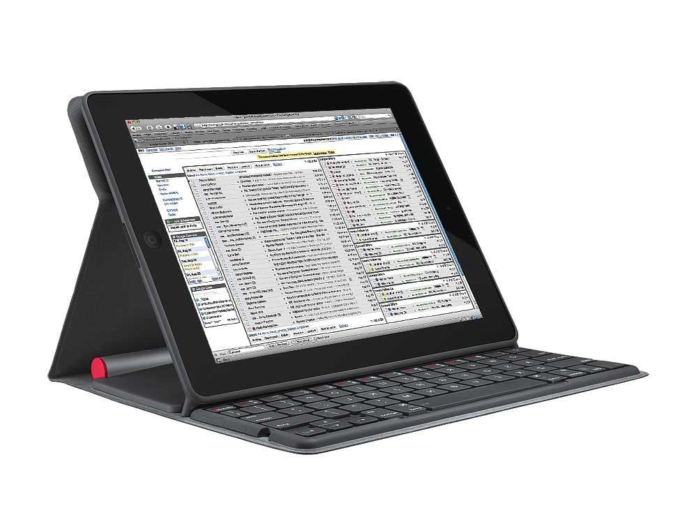 iPadのポジションは2種類の角度で切り替えられる