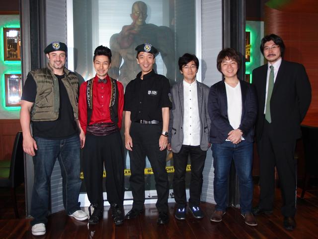 左から順に、ニコラス・ペタス氏、Takahiro氏、兼元氏、暦本氏、川田氏、末吉氏