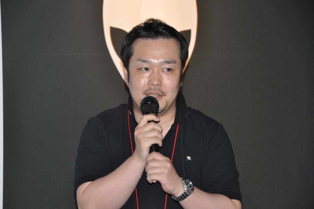 ゲームを紹介したネクソンマーケティングチームの坂下智久氏