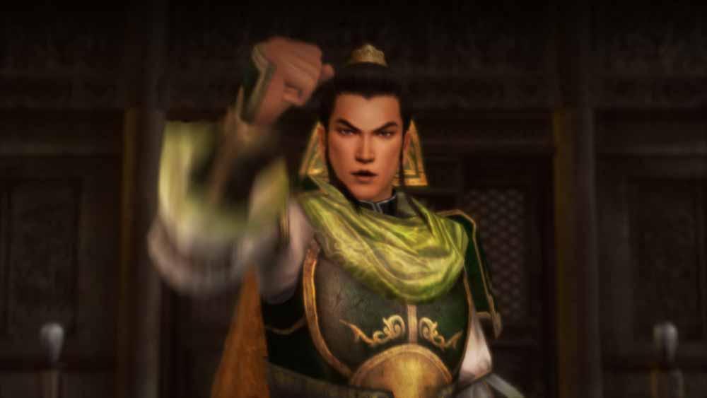 軍議で方針が決まり、劉備が全員に対して檄を飛ばす
