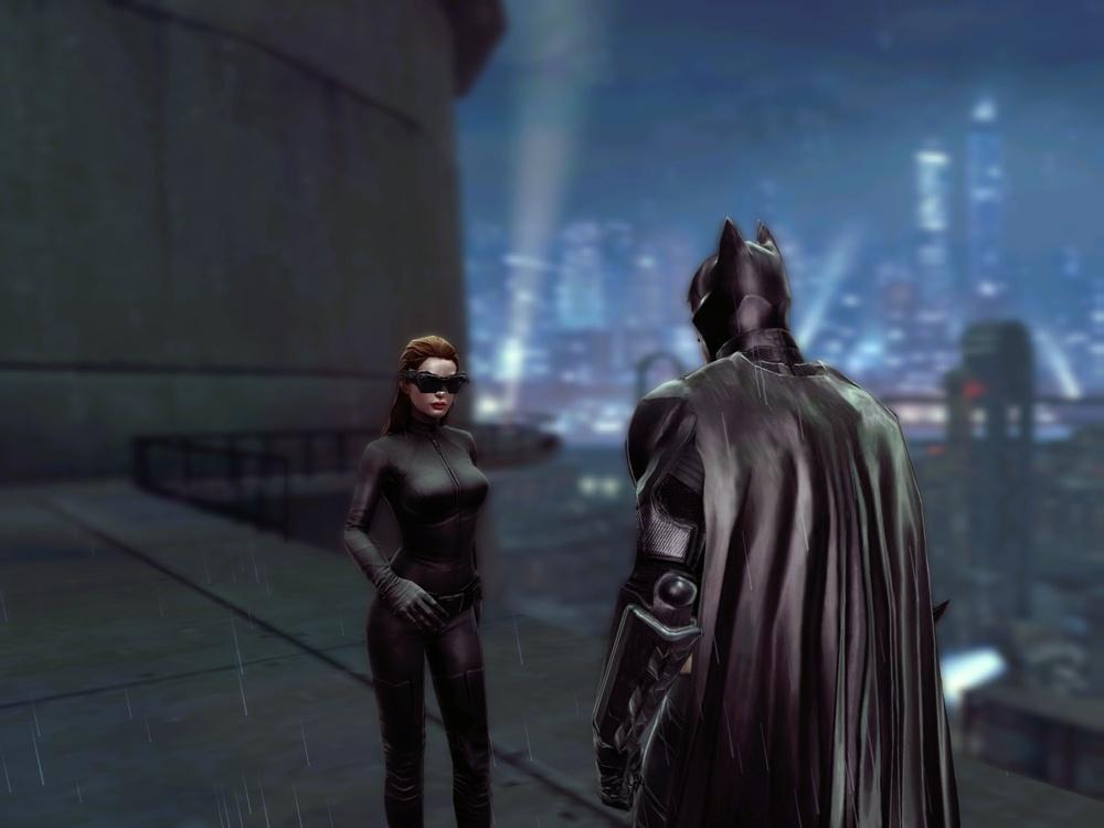 ゲームの配信日は映画公開に合わせた7月28日。ゴッサムシティがオープンワールドとして広がっている。俳優の表情もかなり似ているが、声もモノマネされているので、クリストファー・ノーラン版のバットマンファンならニヤリとさせられるだろう