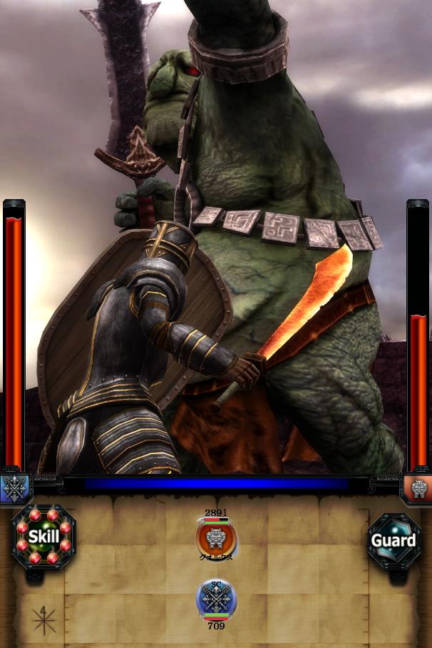 武器:サラムカットラス         <br>盾:カイトシールド