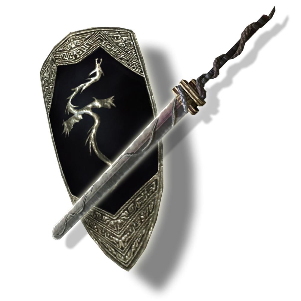 """「アントラの剣""""獄""""」と「アゼンダ近衛兵の盾」"""