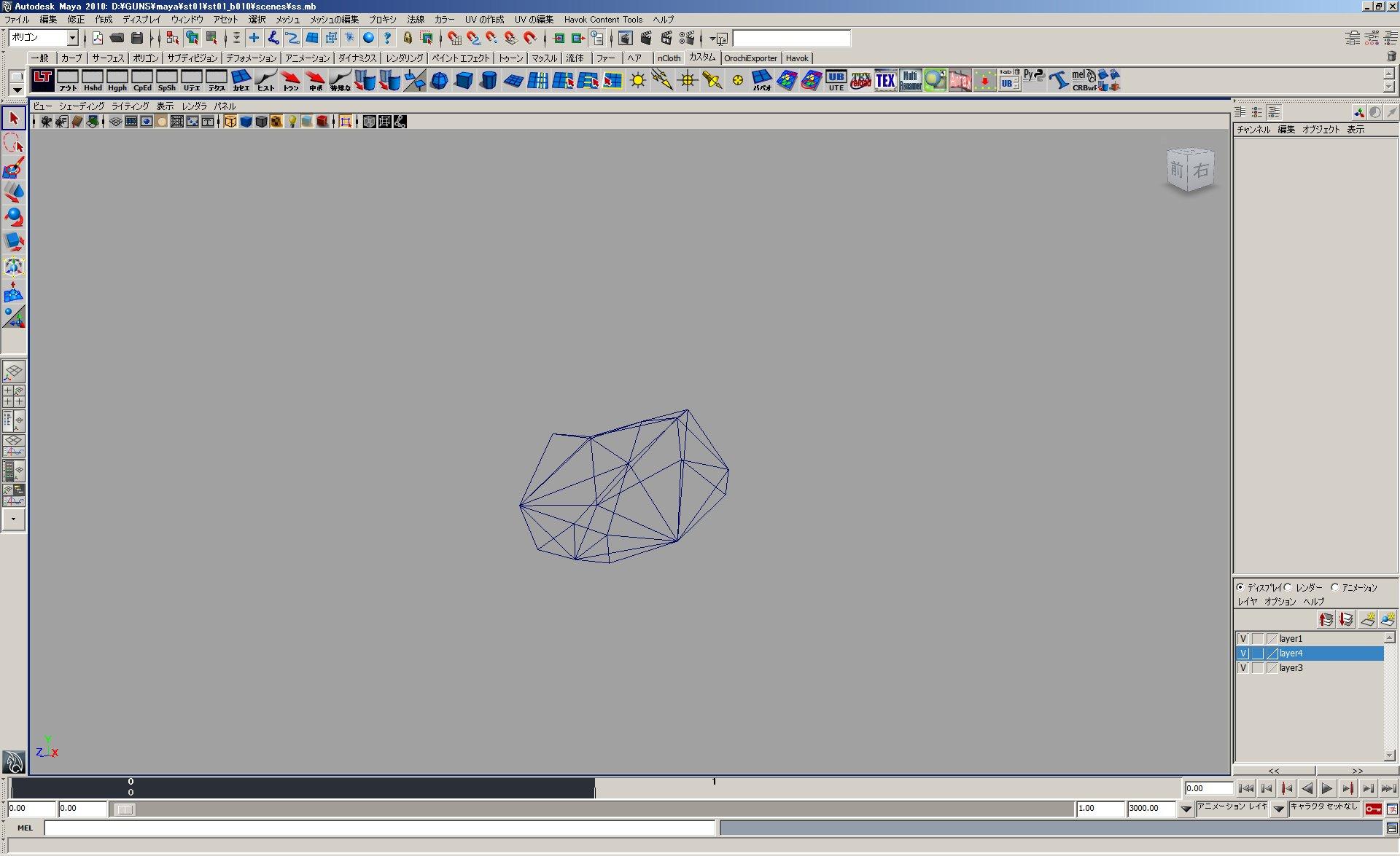 ある程度破壊したら、共通破片モデル(デブリ)に置き換えてしまうことで処理や描画を高速化(左)、そのワイヤーフレーム(右)