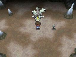 ジャイアントホールの洞窟の奥でキュレムが待ち構えている