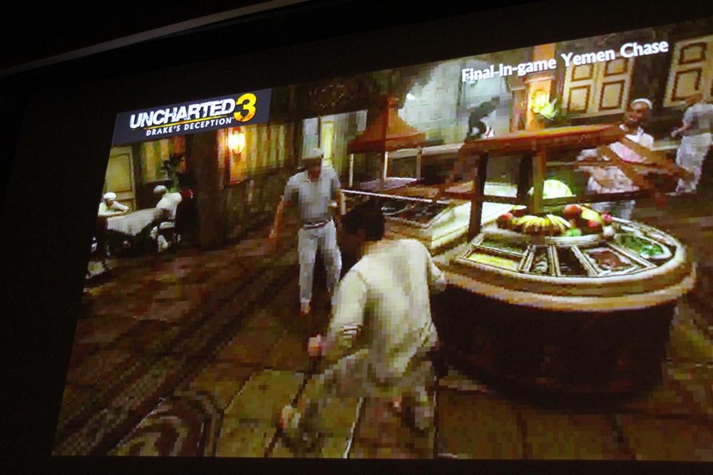 完成したゲームでは、違和感なくステージが繋がっている