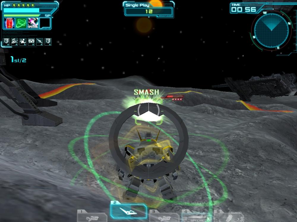 スキル2「ヴォワチュール・リュミエール」発動後は武装がガラリと変わる。どの武器も使い勝手が良く、同じ機体とは思えない位だ