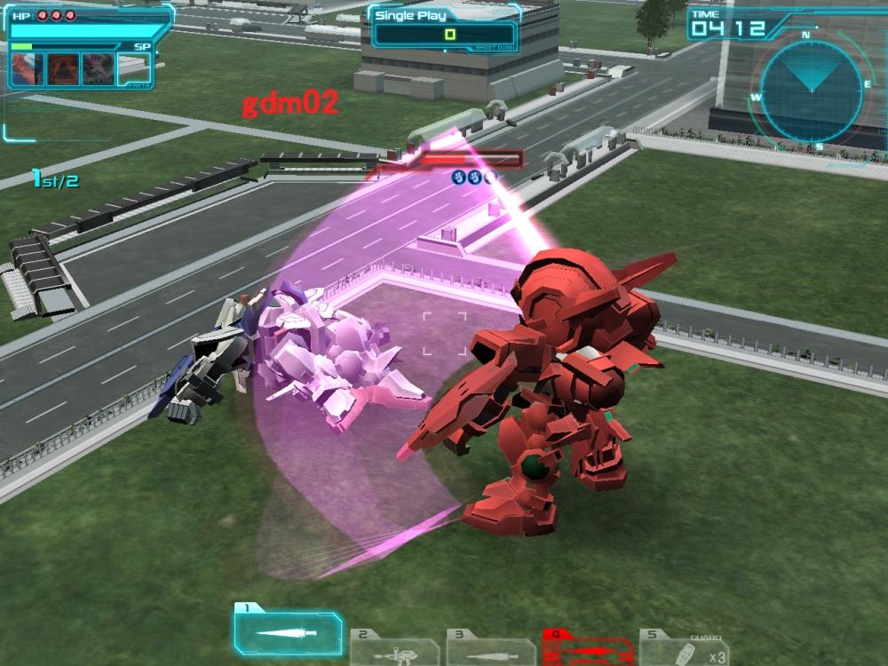 武器1「GNビーム・サーベル」は5段格闘で使い勝手がよい。武器2「GNランチャー」も当てやすく、武器3「GNビーム・サーベル(格闘コンボ)」も強力で、使いやすい機体だ