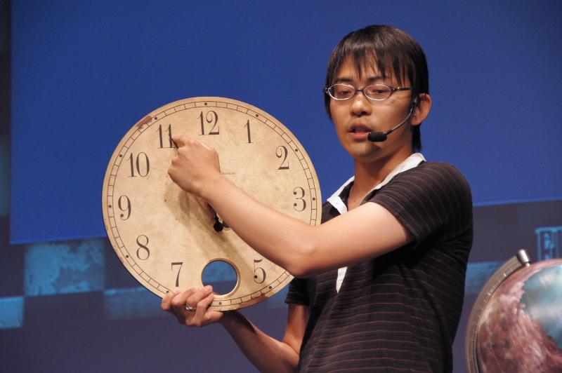 ゲームデザインについてのコンセプトを紹介したメインプログラマーの浜口氏