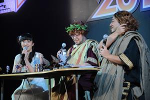 杉浦氏、宮下氏、植田さんの3人による「運営レポート(動画版)」の公開録画