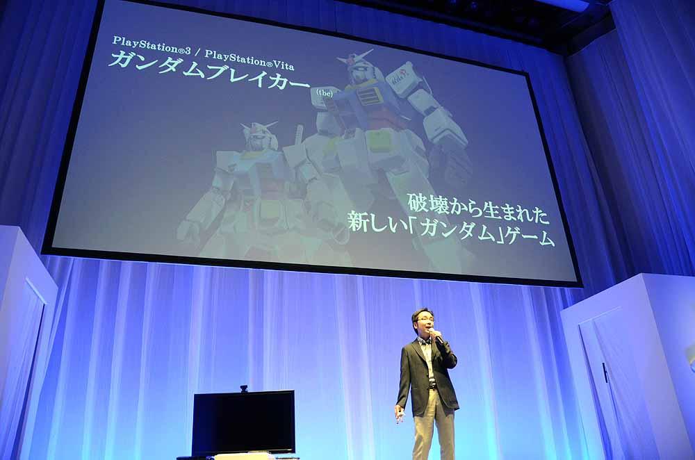 バンダイナムコゲームスの稲垣浩文氏はガンプラをテーマとした「ガンダムブレイカー」を発表