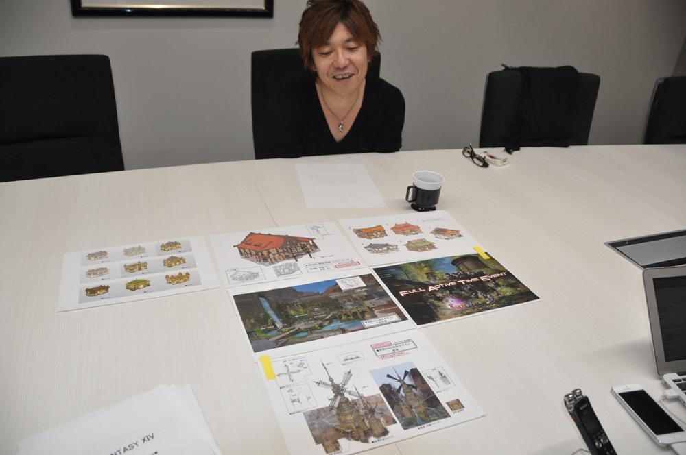 イラストを見せながら構想を楽しそうに語る吉田氏