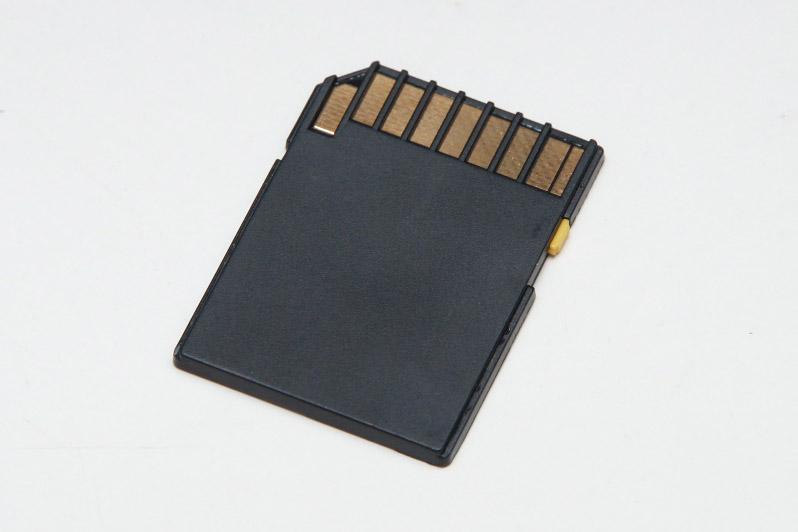 初回特典の「NINJA MASTER'S」のNGXゲームカード。外見から見るにSDカードだが、内部データは特殊フォーマットになっている