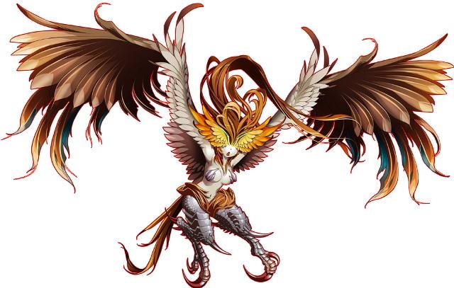 "<center class=""""><strong class="""">ハーピー</strong></center><br class="""">美しい翼と鋭い爪を持つ空の獣人。冒険者の死角となる空から奇襲してくることが多い。代表的な住処である森を歩く際は頭上も気にしよう"