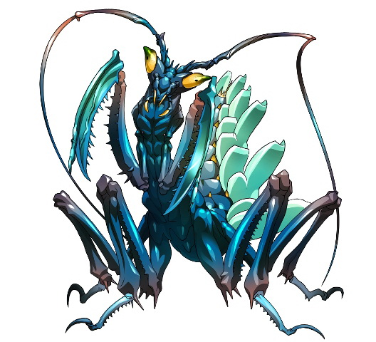 """<center class=""""""""><strong class="""""""">アクアマンティス</strong></center><br class="""""""">完全に水棲に適応進化したマンティスの新種。羽根を活用することで水中を自在に移動する。また羽根から発する超音波で仲間と連携を取っている"""