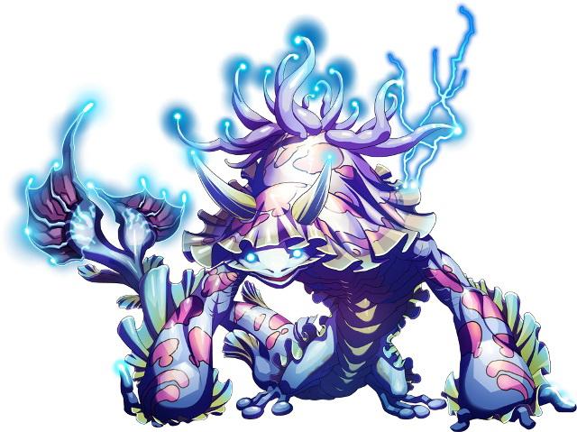 "<center class=""""><strong class="""">モーマン</strong></center><br class="""">帯電性の水生生物と共生することで強力な電力を得たマーマン族の個体。体内に溜めた電力を一気に放出し周囲の獲物を一撃で仕留めようとする"