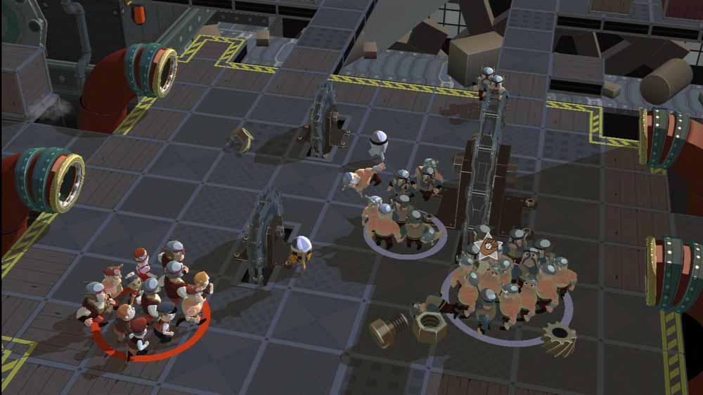 様々なギミックが用意されたステージを舞台に、攻め入るバイキングをポイポイして倒していく。ギミックとしては、たとえば飛んでくる砲弾を曲がった鉄パイプを使うことで方向を変えてボスを攻撃するといったものなどがあるという