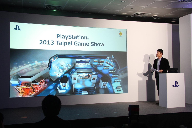 江口氏は、今年のTaipei Game Showのブースデザインを説明。こうしたこともこれまでにはなかったことだ