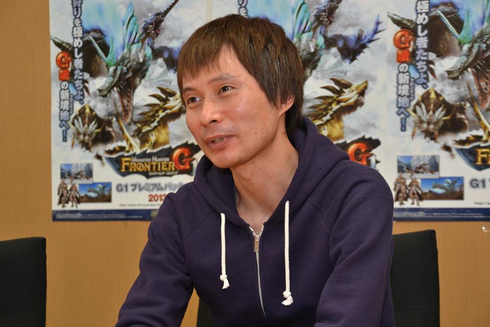 「モンスターハンター フロンティア オンライン」の立ち上げ期からタイトルに携わり、現在はディレクターを務めている木本龍己氏。過去には「パワードギア」や「サイバーボッツ」、「ジョジョの奇妙な冒険」といった1990年代のアーケードゲームの開発に携わった経歴を持つベテラン開発者
