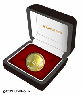 ゴールドひらめきコイン(18金製)