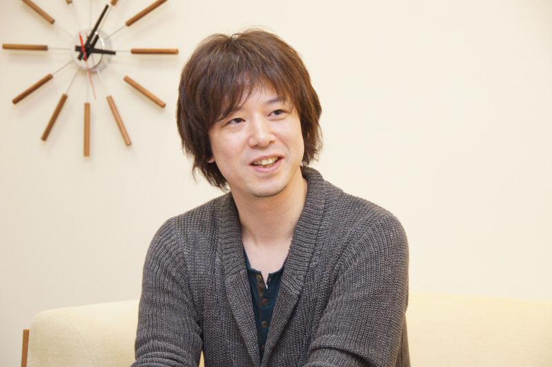 インタビューに応じてくれたディレクターの菅野敦氏。「ファンタジーライフ」は、ハードの変更、2Dから3Dへの変更もあり、新機軸なRPGの挑戦だったこともあり、苦労の連続だったとのこと。そのあたりもたっぷりと話していただいた