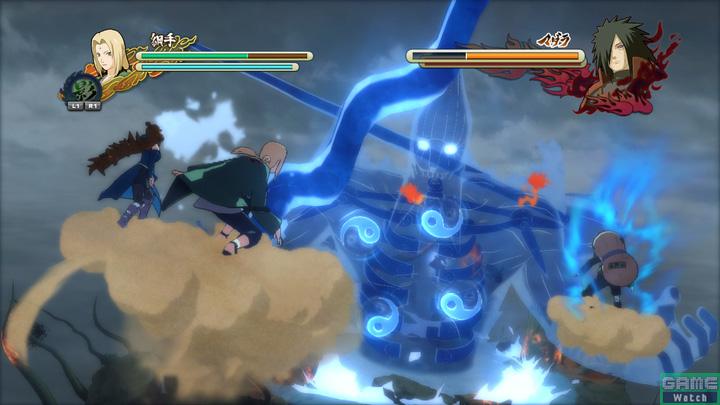巨大ボスバトル戦では五影が須佐能乎を相手に激しい戦いを繰り広げる