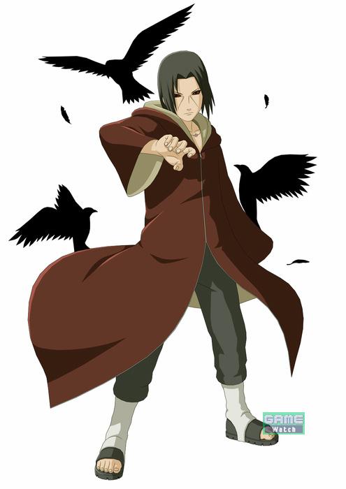 万華鏡写輪眼を持つ、うちはサスケの兄。かつてサスケとの戦いで命を落としたが、穢土転生の術で復活。須佐能乎をはじめとした強力な術を使用できる
