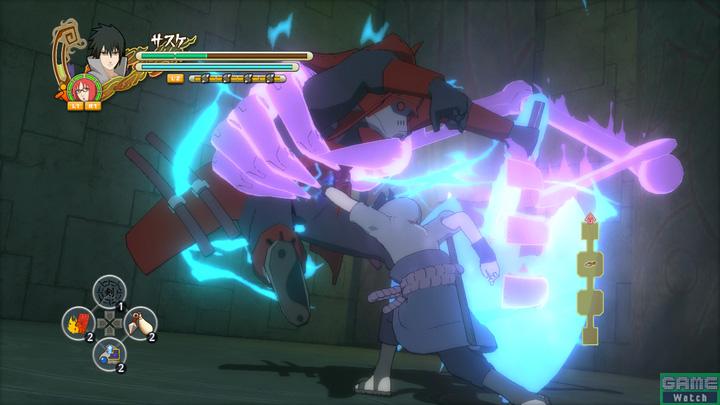 群集バトル中はバーストアタック以外にもボタン入力による特殊攻撃が用意されている。敵の背後に回り込んだり、ボスにトドメをさしたりと、ボタン入力を成功させることが群集バトルの鍵になる