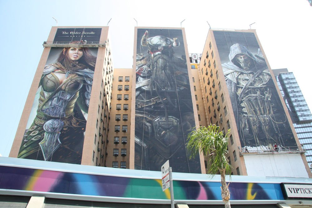「The Elder Scrolls Online」はE3 2012ではFigueroa Hotelの全面広告で華々しいデビューを遂げた