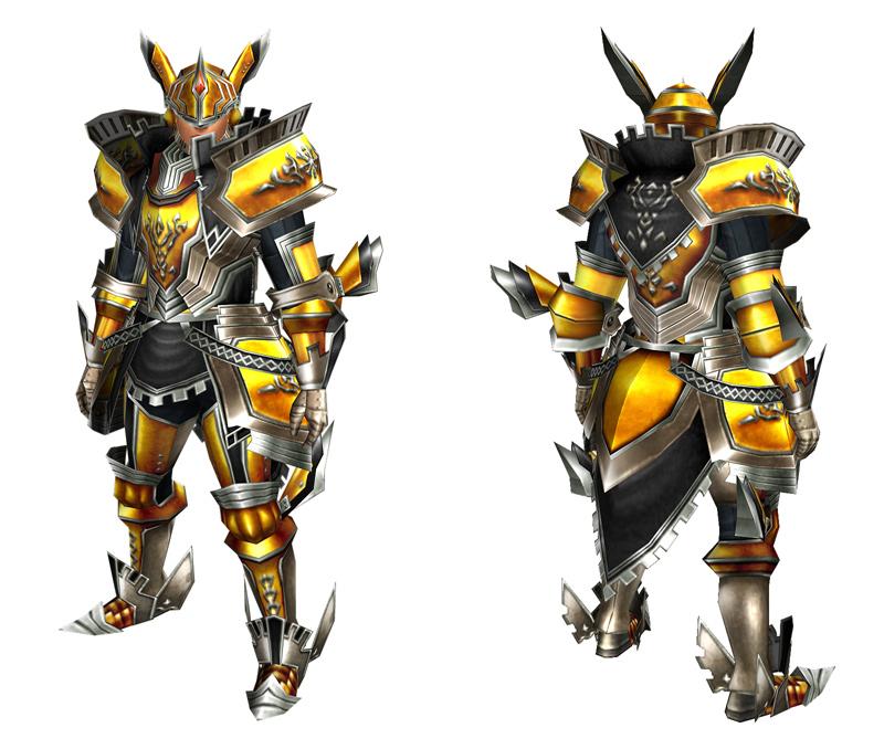 「テリオグシリーズ」(剣士用/ガンナー用防具)、各「マグネストーン」5個で生産