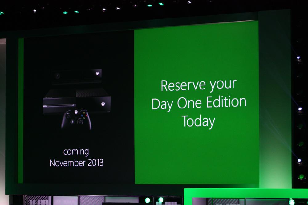 Xbox Oneの価格は、まさにさらっと発表された。11月発売予定で、価格は499ドル。日本を含まない欧米18カ国でリリースされる