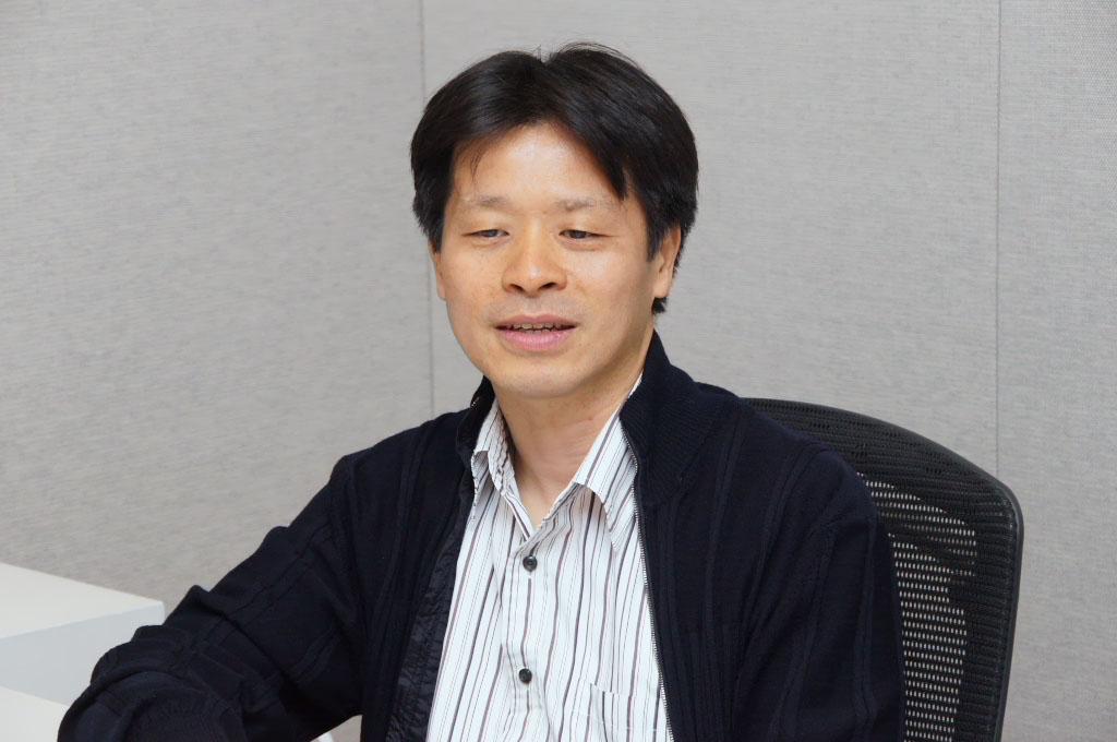 インタビューに応じてくれたプロデューサーの北瀬佳範氏。チームのまとめ役として、これまでの経緯や秘話を語ってくれた