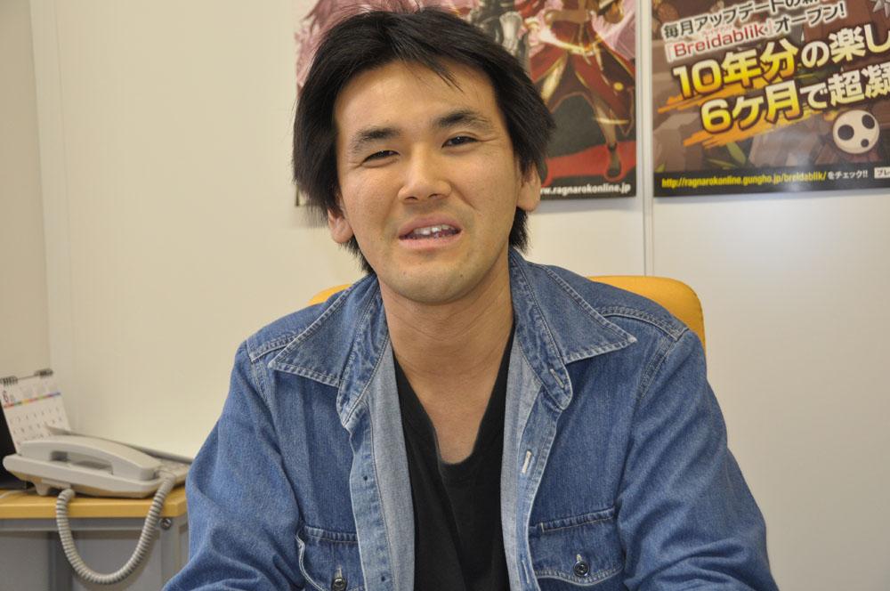 ガンホーオンライン本部パブリッシング部第1企画課主任の中村聡伸氏