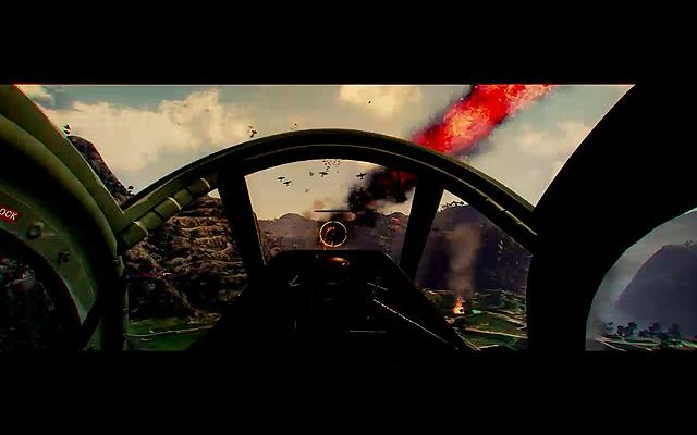 PS4「WAR THUNDER」。歴史上の戦闘機200機が登場し、100台もの乗り物が戦闘に参加する。バトルエリアは100,000平方km。世界中のプレーヤーと戦場で戦うことができる