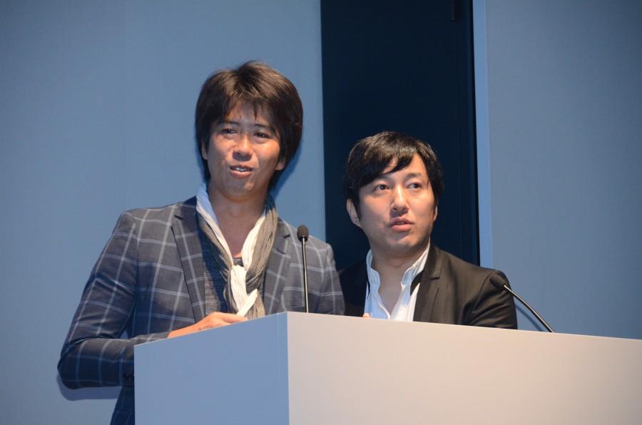 森下一喜氏(上画像:左)と須田剛一氏(同:右)