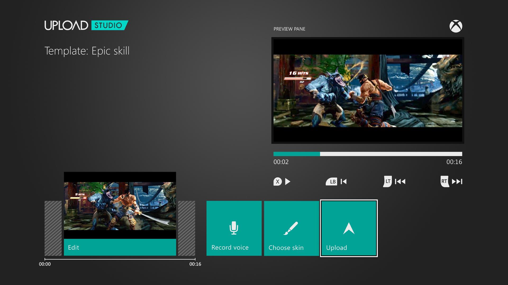 Xbox Oneの動画ツール「UPLOAD STUDIO」。ゲームをプレイしながらの録画はもちろんのこと、画面を切り替えて映像の確認をしたり、アップロードしたりもできる