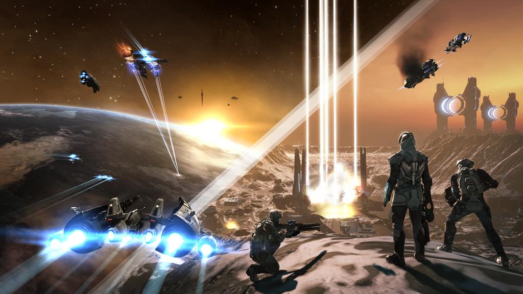 「DUST」。「EVE」側とも連動して惑星の争奪戦ができるようになった