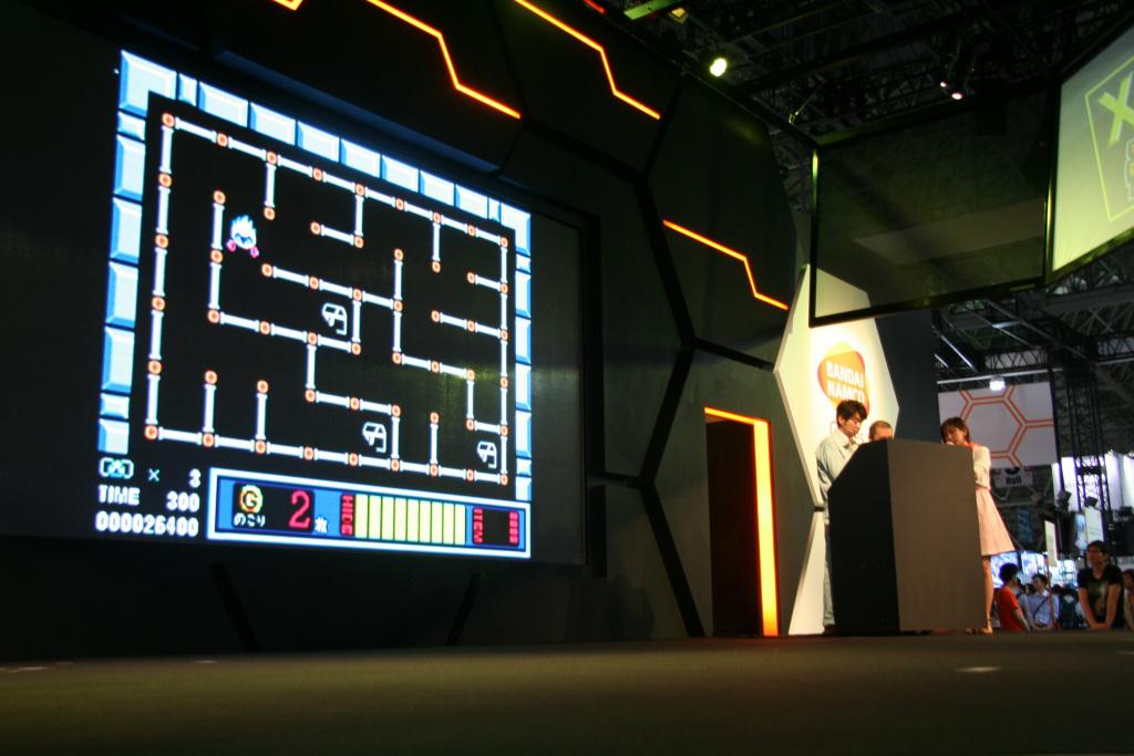画面固定、ステージクリアタイプで、パズル要素の強いアクションゲーム。Bボタンでハイドゲージを消費して隠れることができ、敵から隠れつつ宝を集めていく。全50面。パンチで敵を倒すこともできるようだ
