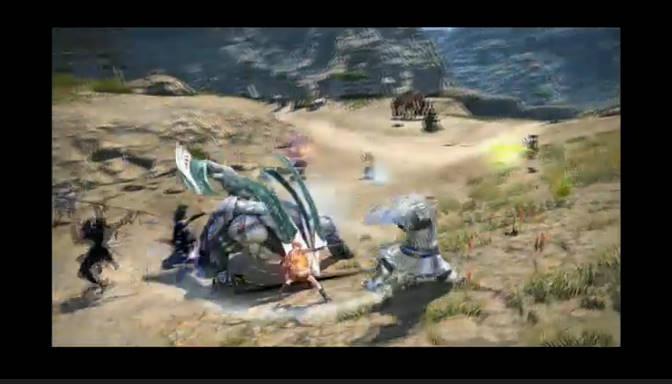 「FFXIII」に登場するモンスターとF.A.T.E.の中で戦うことになる