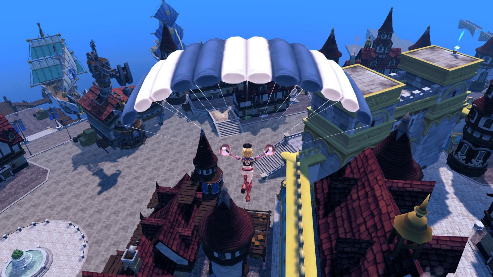 PlayCooらしいかわいらしいキャラクターが活躍する海賊MMORPG。空を飛んだり、ステージをジャンプで超えるなど、アクションゲーム要素のあるダンジョンが特徴。フィールドでは人間大砲やハンググライダーで空を飛べる