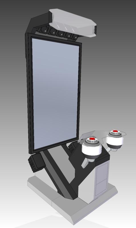 ※7 58インチモニターを採用した筐体デザインプラン