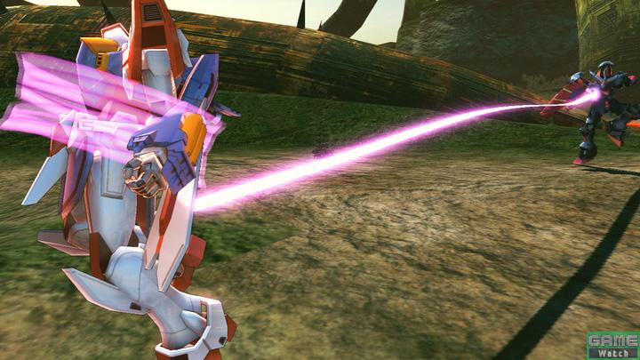 サブ射撃はマスタークロスで相手を拘束する。発生が早く、近距離の要となる攻撃。ヒット後は追撃を決めることができる