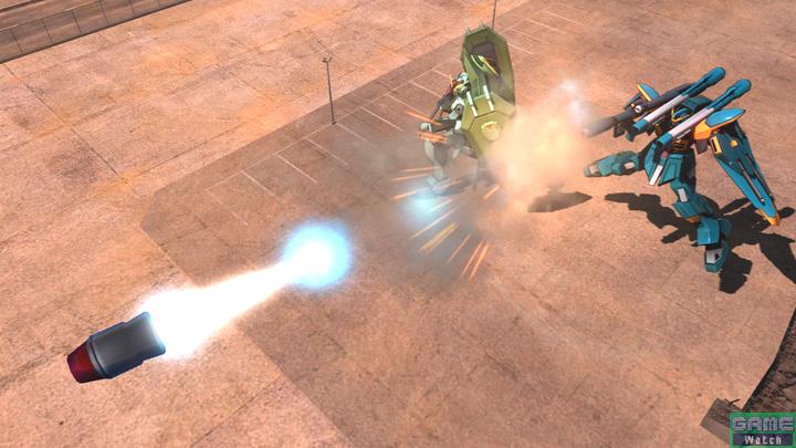 特殊射撃で呼び出すカラミティガンダムはバズーカを連射する。多方向からの同時攻撃を仕掛けることでヒットしやすくなる