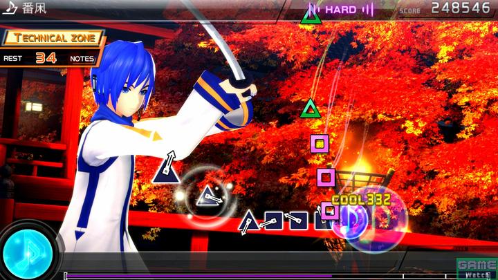 多くのユーザーの支持を受けて「Project DIVA F 2nd」に、MEIKOとKAITOの和風デュエット楽曲が登場。PSP版と全く雰囲気が異なる「番凩」の世界が楽しめる